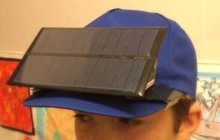 Celda Solar 1.6watt 6volts Acoplada A Gorra De Visera