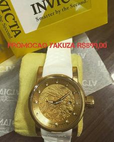 Invicta Yakuza Branco Gold Promocao