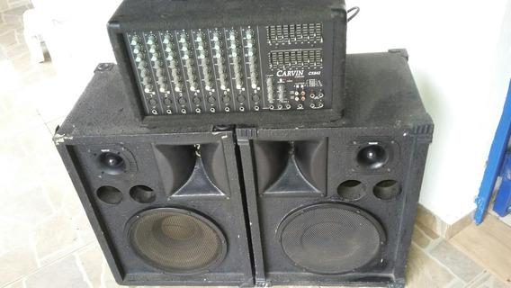 Carvin Cx842 Stereo Mixer+2 Caixas De Som Imperdível