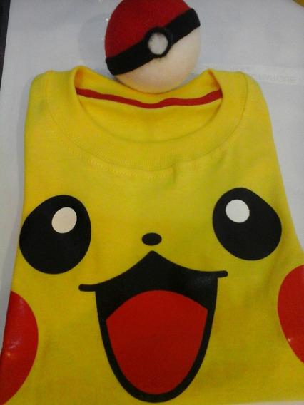 Remera Pikachu Manga Larga $200 Del 4al14
