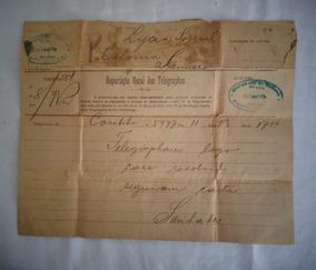 Telegrama Antigo 1919 Santo Amaro Bahia
