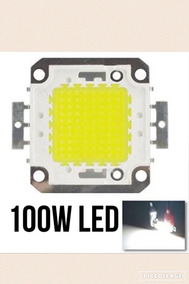 Kit 2x Led Chip 100w Branco Frio - Reposição Refletor