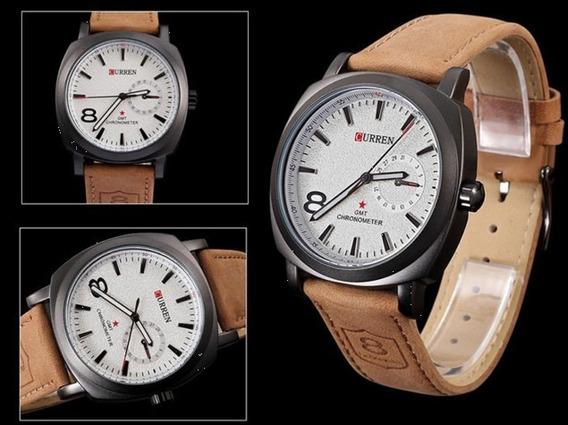 Relógio Luxo Curren 8139- Analógico -frete Grátis-