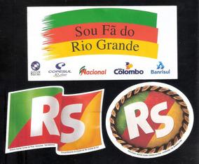 Rio Grande Do Sul- 3 Decalques Novos