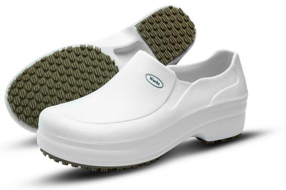 Sapato Branco Soft Works Antiderrapante Ref Bb 65 Ca.31898
