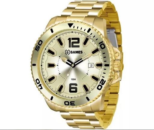Relógio X Games Masculino Xmgs1019 Original Dourado Com Nf