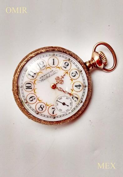 Reloj Waltham Bolsillo Vintage Petit Chapa Oro Video