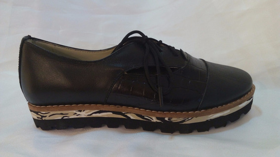 Zapato Cuero Con Plataforma Goma Eva Art 2684. Marca Alen