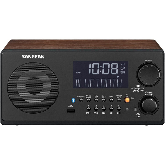 Radio Reloj Sangean Wr-22wl Am/fm-rds/bluetooth/usb