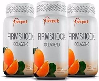 3 Colágenos Firm Shock (150 Cápsulas!) Celulite Firmeza