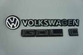 Kit Emblemas Volkswagen Vw Mala Gol C 83 À 90 + Brinde