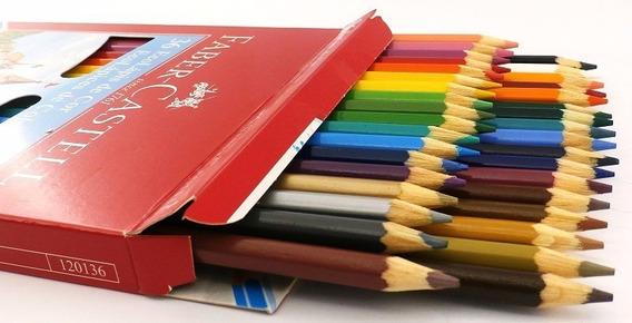 Lápices De Colores Faber Castell Ecolápiz Largos X 36