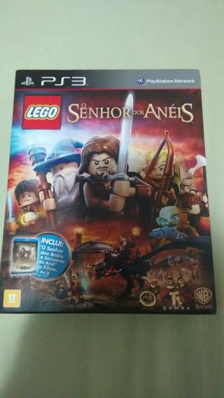 Lego O Senhor Dos Anéis Ps3 + O Filme Em Blueray Deslacrado