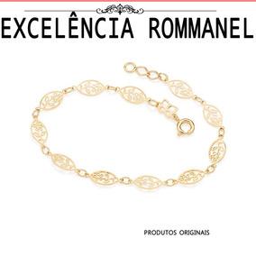 Pulseira Rommanel Flor Folheada Ouro 551221