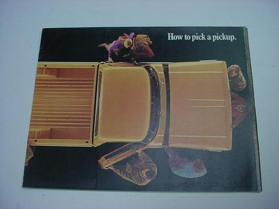 Folder Ford F100 F-100 Pickup Picape 71 1971 V8 Poster