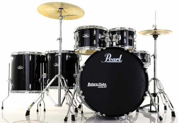 Bateria Pearl Roadshow Rs525sc Plus Jet Black 22¨,10¨,12¨,14