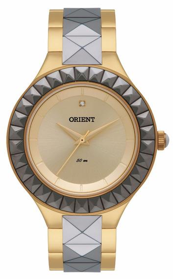 Relógio Orient Original De Fábrica, Dourado, Ftss0039 C1kg