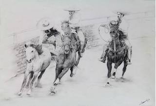 Arte, Dibujo A Lápiz Charreria