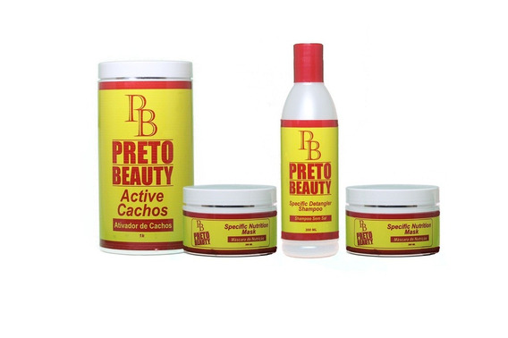 Kit Sistema De Cachos Naturais Preto Beauty 2