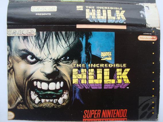 Label ( Rótulo ) Super Nintendo - The Incredible Hulk