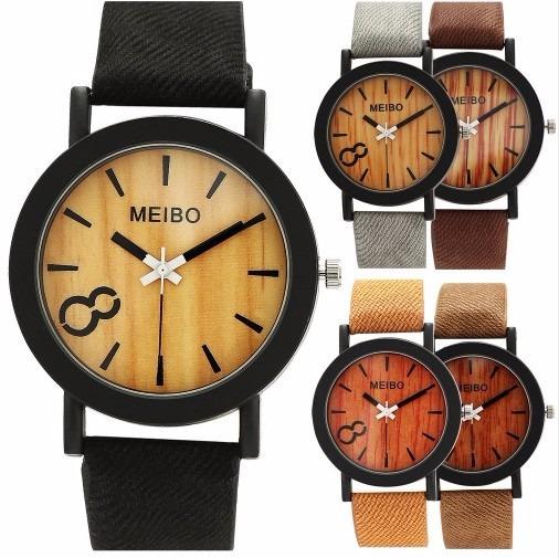 Relógio De Pulso Meibo Unissex Várias Cores Frete Grátis