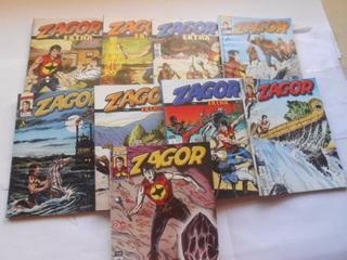 Hq Faroeste Zagor Lote Fechado Com 9 Revistas Editora Mythos