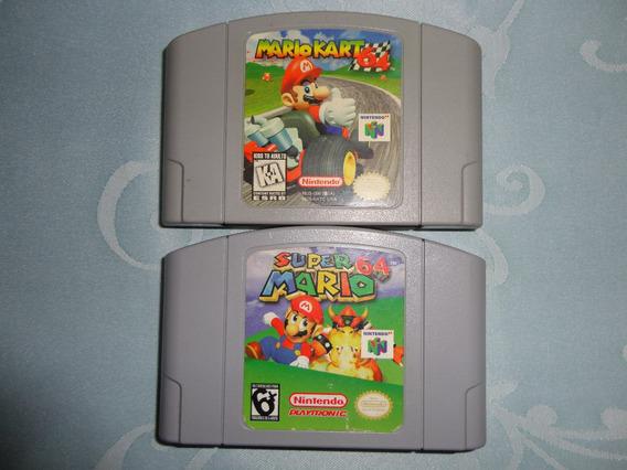 Lote De Fitas Super Mario Kart 64 E Mario 64´