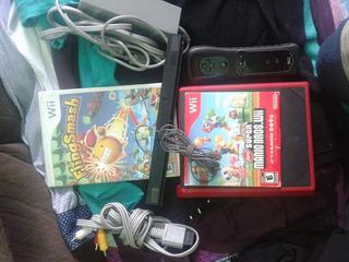 Wii Mini Con Mari Kart,2 Juegos 1 Control Con Funda
