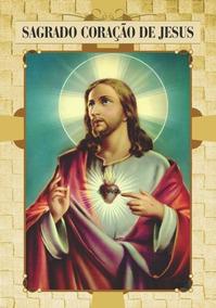 Santinho Sagrado Coração De Jesus - Milheiro De Promessa