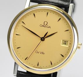 Autentico Reloj Omega Deville Para Hombre Tono Oro/plata