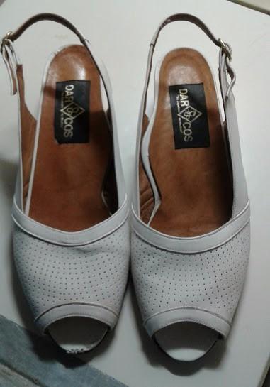 Para Mamá:sandalias Darcos Blancas N°40 Horma A