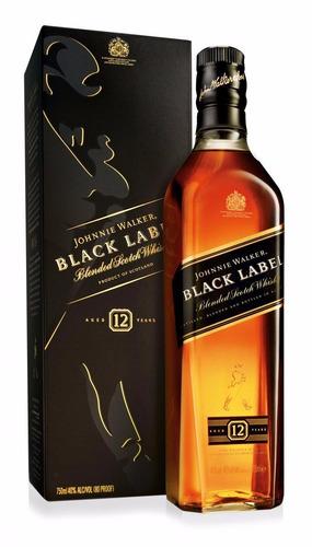 Whisky Johnnie Walker Black Label 1000ml En Estuche