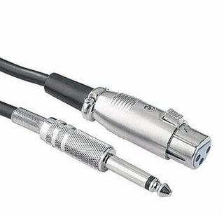 Cable Canon Hembra A Plug 6,5 De 5 Metros De Largo Maxcable
