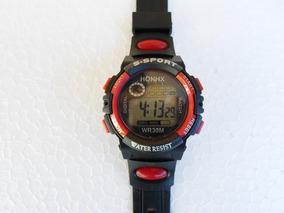 Relógio Digital Honhx Pulseira De Borracha