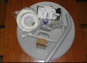 Antena De 60 Cm + Cabo + Lnb Simples/duplo Faixa Larga