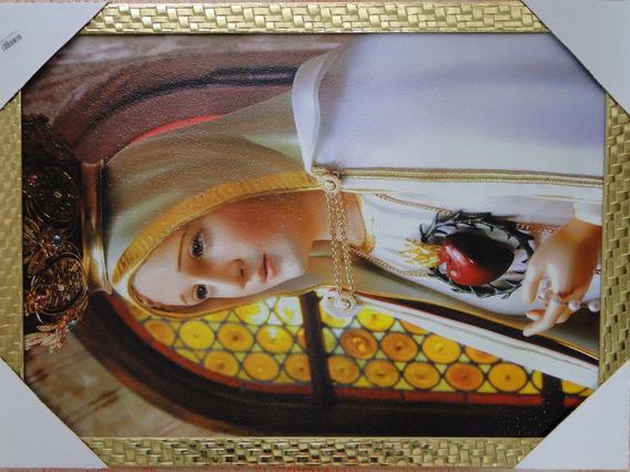 Quadro Nossa Senhora De Fatima Rogai Por Nós 70x50cm