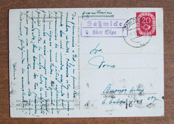 Alemania - Postal Enviada A Argentina 1952 L1445