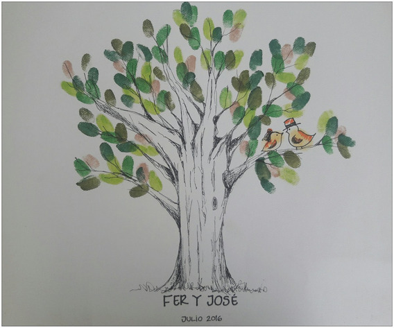 Árbol Y Dibujos De Huellas Para Tus Eventos