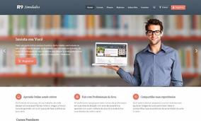 Site Pronto Para Cursos Online + Instalação Completa Grátis