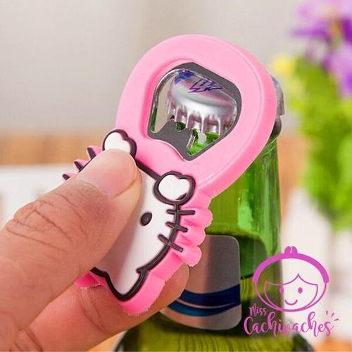 Imagen 1 de 3 de Lindo Destapador De Hello Kitty