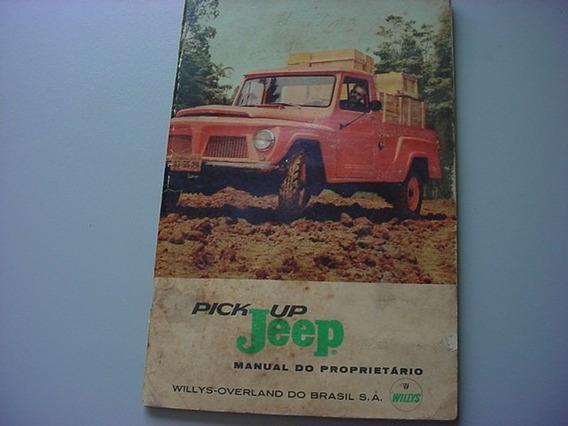 Manual Proprietario Willys Pick Up Jeep 63 1963 F-75 F75