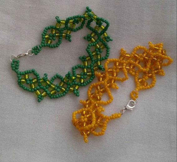 Pulsera Artesanal Amarilla O Verde (envío Incluido)