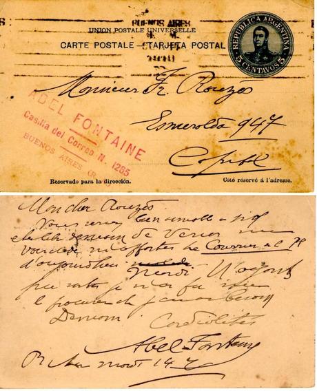 Carta Postal 5 Centavos Circulada Fines Siglo Xix