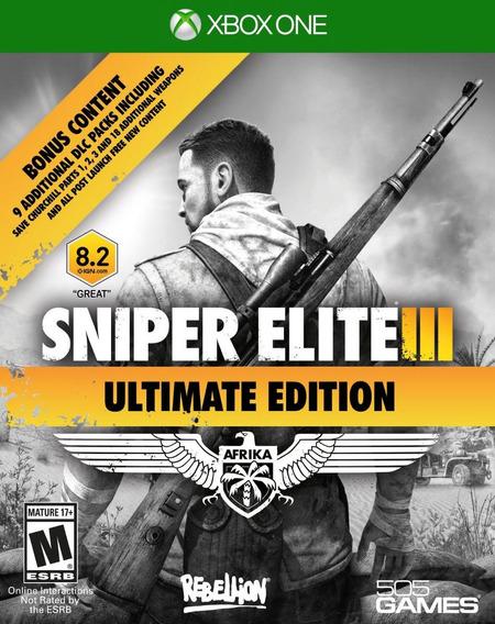 Jogo Sniper Elite 3 Xbox One Português Física Frete Grátis