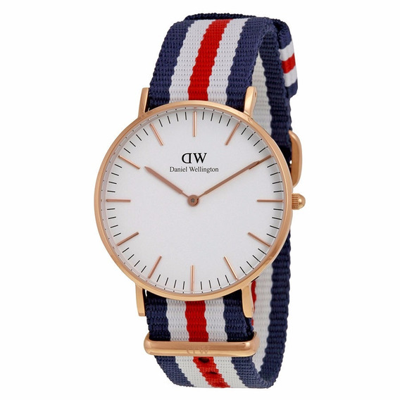 Reloj Daniel Wellington Canterbury Acero Nylon Mujer 0502dw