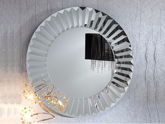 Espejo Veneciano Redondo Luna Biselada 80cm Diámetro