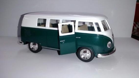 Kombi Metal Miniatura Ano 1962,escala 1/32 Verde