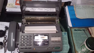 Fax Panasonic Kx - F895 Cinza Funcionando.