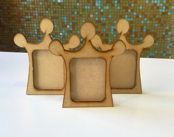 10 Porta Retrato Corona Princesa De Fibrofacil Para Foto 6x9