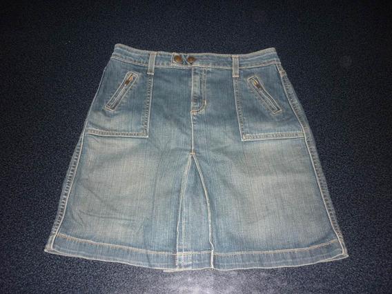 Espectacular!! Pollera Orig. Gap Jeans- Small Blue
